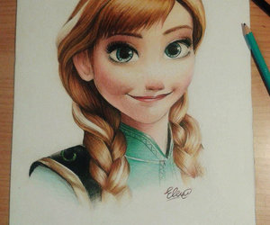 anna, frozen, and art image