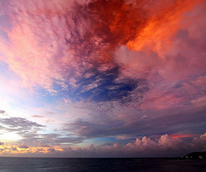 beautiful, clouds, and love image