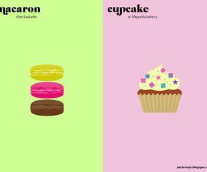 cupcake, macaroons, and paris image