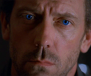 blue eyes, dr house, and handsome image
