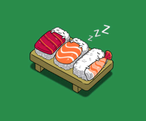 adorable, sushi, and cute image