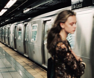 girl, subway, and photography image