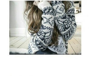 cold, cozy, and girl image