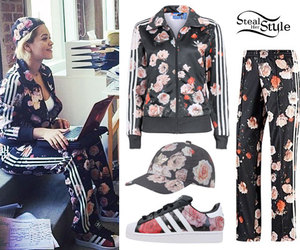 adidas, fashion, and floral image