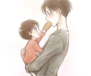 bread, levi, and eren image