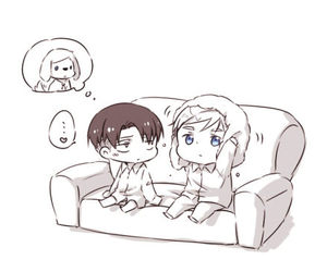 cute and attack on titan image