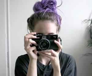 girl, hair, and camera image