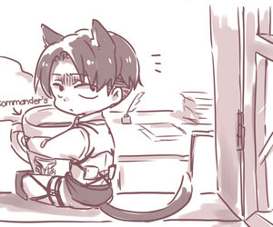 levi, shingeki no kyojin, and cute image