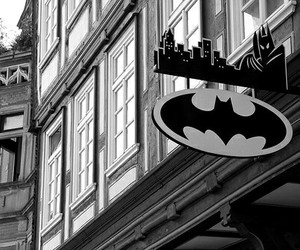 batman, city, and black and white image