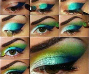 blue, step by step, and green image