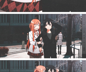anime, sao, and kirito image