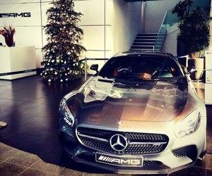 car, christmas, and luxury image