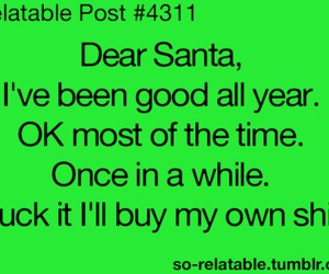 quote, christmas, and funny image