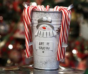 christmas, winter, and snowman image
