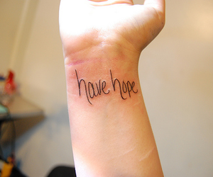 tattoo, hope, and have hope image