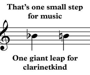 clarinet, joke, and music image