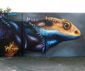 animal, style, and graffiti image