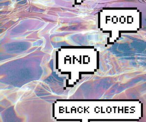 food, black, and music image