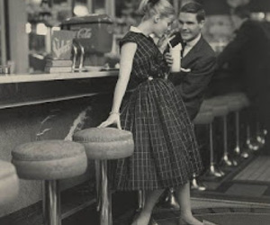 1950s, pretty, and black and white image