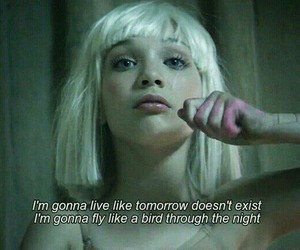 bird, girl, and song image