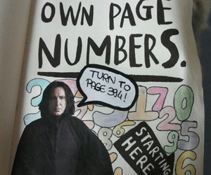 numbers, severus snape, and wreck this journal image