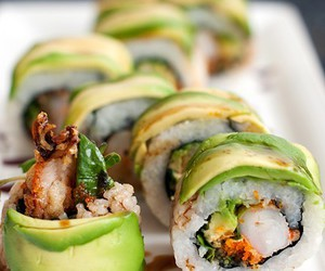 sushi, food, and delicious image