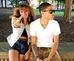 couple, swag, and snapbacks image