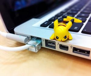 pikachu, pokemon, and laptop image