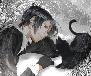 anime, black butler, and cat image