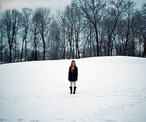 snow, girl, and indie image