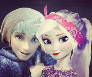 disney, elsa, and jack frost image