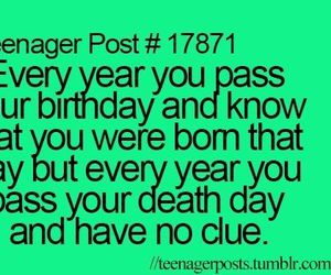 birthday, death, and teenager post image