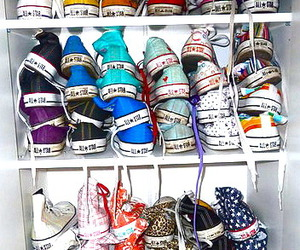 all star, colourful, and shoes image
