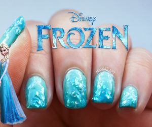 nails, disney, and frozen image