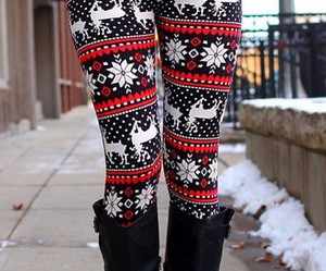 christmas, winter, and leggings image