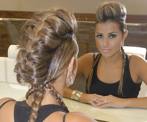 braid, hair, and tranças image