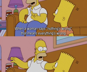 simpsons, woman, and homer image