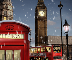 london, snow, and england image