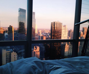 city, bed, and view image