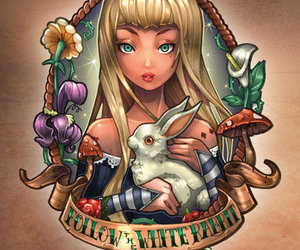 alice in wonderland and Pin Up image
