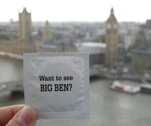 Big Ben, condom, and funny image
