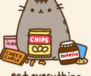 chips, nutella, and totoro image