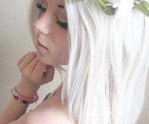 dyed hair, grunge, and pastel goth image