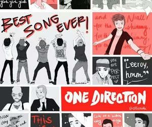one direction, best song ever, and Harry Styles image