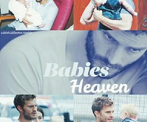 baby, Jamie Dornan, and fifty shades of grey image