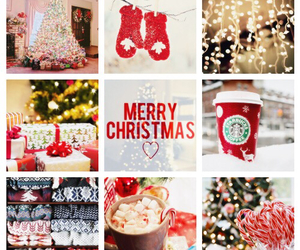 christmas, coffee, and gloves image
