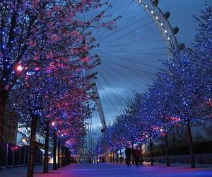 light, london, and tree image