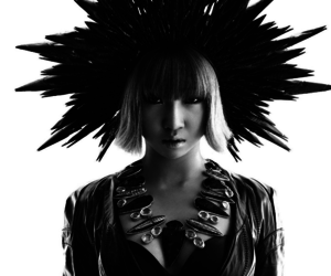 2ne1, black and white, and magazine image