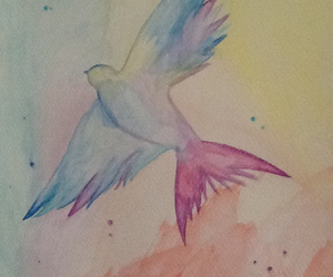 aquarelle, art, and bird image