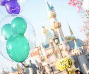 disney, balloons, and disneyland image